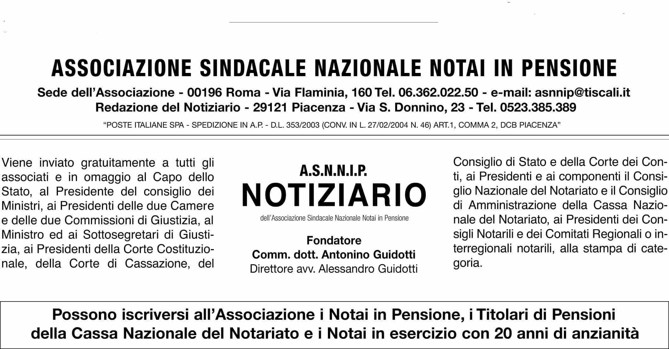 Notiziario ASNNIP